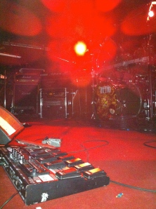 close to the stage