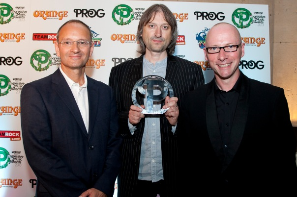 Andy Poole, Greg Spawton, and David Longdon at the Prog Awards.  Photo taken from Prog's website.