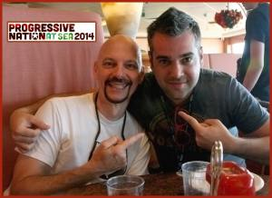 Edge Groves, Jr., and Mike Haid on the Progressive Nation at Sea Cruise, 2014.