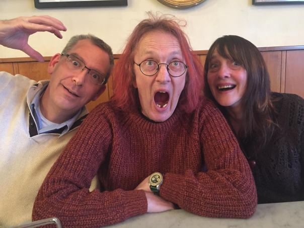 Yours truly, Andy, and Sally--at the end of it all.