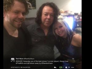 The amazing Terri Nunn of Berlin snags a photo w/the Good Sir Orzabal backstage.