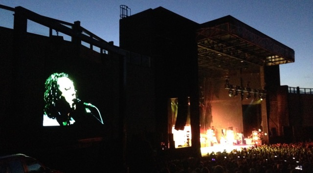A blurry iPhone picture from last night's concert in Denver: Tears for Fears.