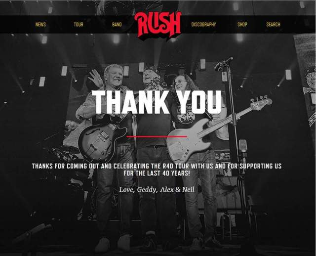 Thank you from Rush.