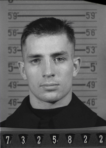 The greatest of the Beats, Jack Kerouac.  Here, in his World War II days.  Photo dated 1943.