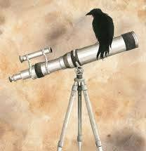 Telescope and crow