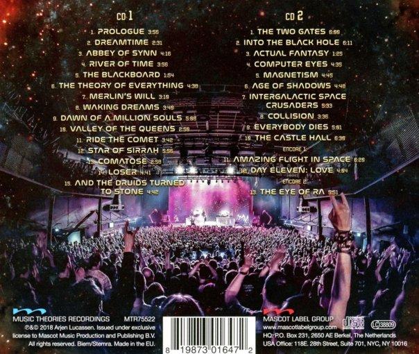 AYREON - Ayreon Universe ; Best Of Ayreon Live - back